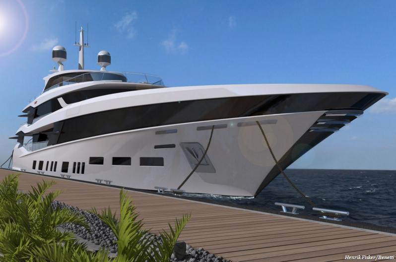 Яхта с солнечными панелями